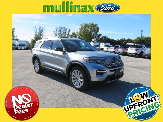 2021 Iconic Silver Metallic Ford Explorer Limited SUV Automatic 4 Door