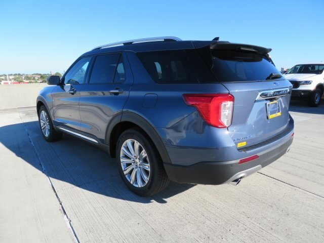 2021 Blue Ford Explorer Limited 4 Door RWD 3.0L I4 PDI Hybrid Turbocharged DOHC 16V LEV3-ULEV70 300hp Engine SUV Automatic
