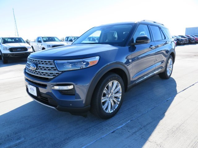 2021 Blue Ford Explorer Limited SUV Automatic 3.0L I4 PDI Hybrid Turbocharged DOHC 16V LEV3-ULEV70 300hp Engine RWD