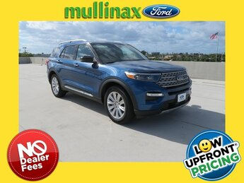 2021 Atlas Blue Metallic Ford Explorer Limited RWD 3.0L I4 PDI Hybrid Turbocharged DOHC 16V LEV3-ULEV70 300hp Engine Automatic