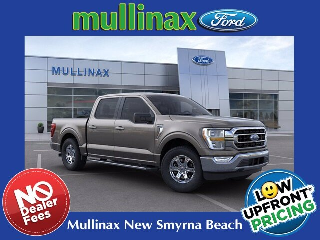 2021 Stone Gray Ford F-150 XLT 2.7L V6 EcoBoost Engine RWD 4 Door Truck Automatic