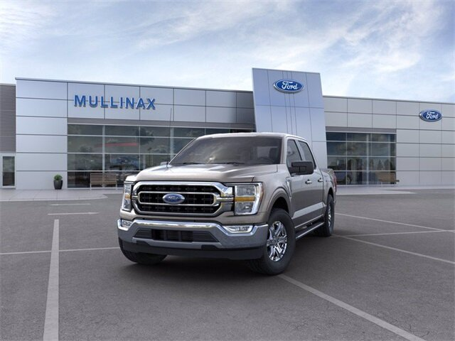 2021 Stone Gray Ford F-150 XLT 2.7L V6 EcoBoost Engine RWD Truck 4 Door
