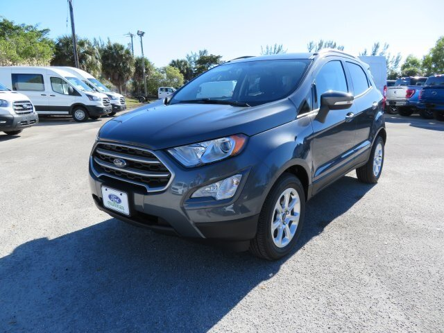 2021 Smoke Metallic Ford EcoSport SE 4 Door EcoBoost 1.0L I3 GTDi DOHC Turbocharged VCT Engine SUV