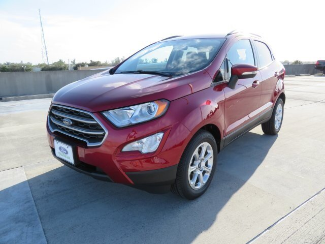 2021 Ruby Red Metallic Tinted Clearcoat Ford EcoSport SE 4 Door EcoBoost 1.0L I3 GTDi DOHC Turbocharged VCT Engine SUV