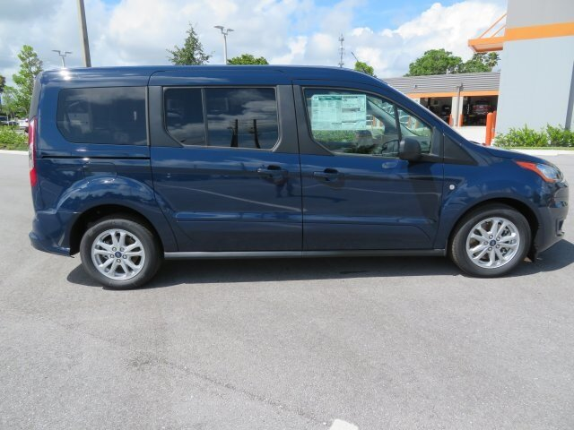 2021 Dark Blue Ford Transit Connect XLT FWD Van 4 Door I4 Engine