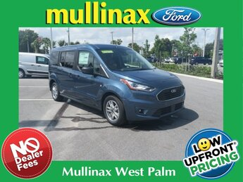 2021 Blue Metallic Ford Transit Connect XLT FWD Automatic I4 Engine Van 4 Door