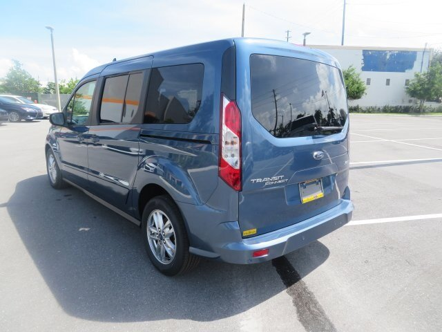 2021 Blue Metallic Ford Transit Connect XLT 4 Door Automatic Van I4 Engine