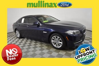 2014 Imperial Blue Metallic BMW 5 Series 528i RWD 2.0L I4 Engine Car