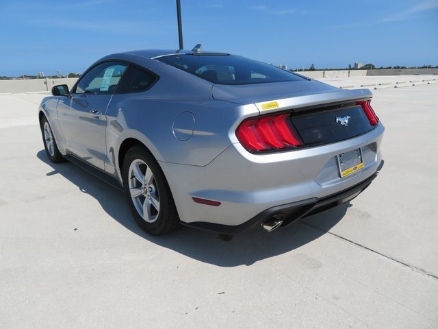 2021 Iconic Silver Metallic Ford Mustang EcoBoost Automatic 2 Door RWD Car EcoBoost 2.3L I4 GTDi DOHC Turbocharged VCT Engine