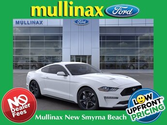 2021 Oxford White Ford Mustang EcoBoost 2 Door Automatic RWD Car