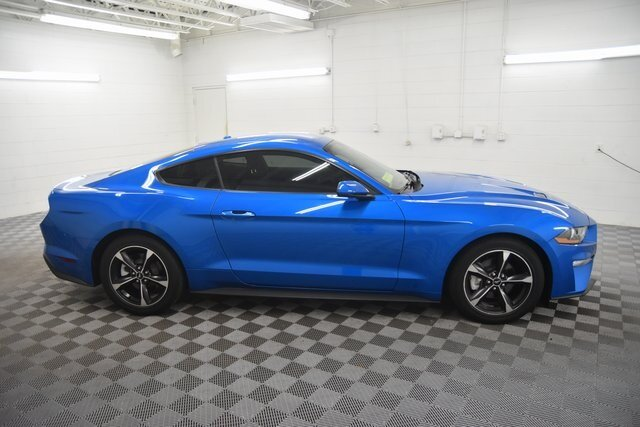 2019 Velocity Blue Metallic Ford Mustang EcoBoost 2 Door RWD Coupe Automatic