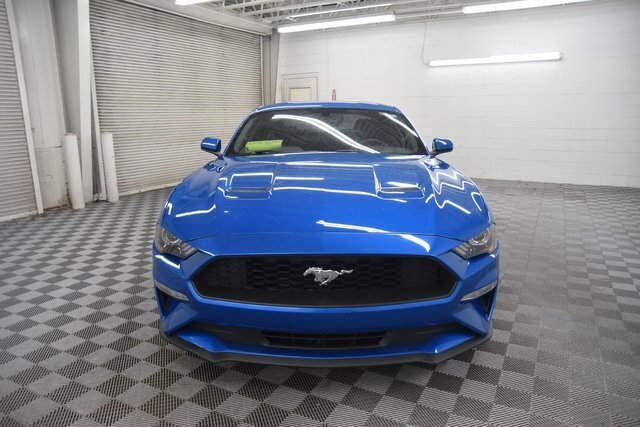 2019 Velocity Blue Metallic Ford Mustang EcoBoost RWD EcoBoost 2.3L I4 GTDi DOHC Turbocharged VCT Engine Automatic Coupe 2 Door