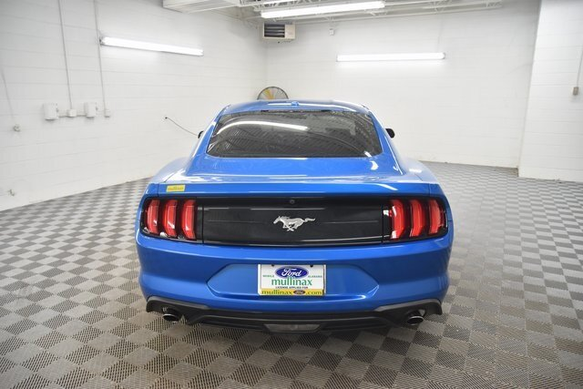 2019 Velocity Blue Metallic Ford Mustang EcoBoost RWD Coupe Automatic 2 Door