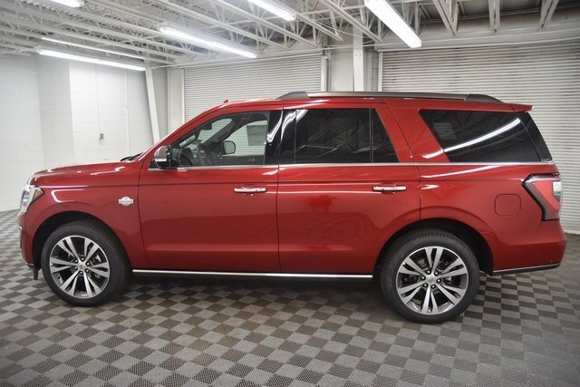 2021 RAPID RED TINTED Ford Expedition King Ranch SUV EcoBoost 3.5L V6 GTDi DOHC 24V Twin Turbocharged Engine 4 Door Automatic