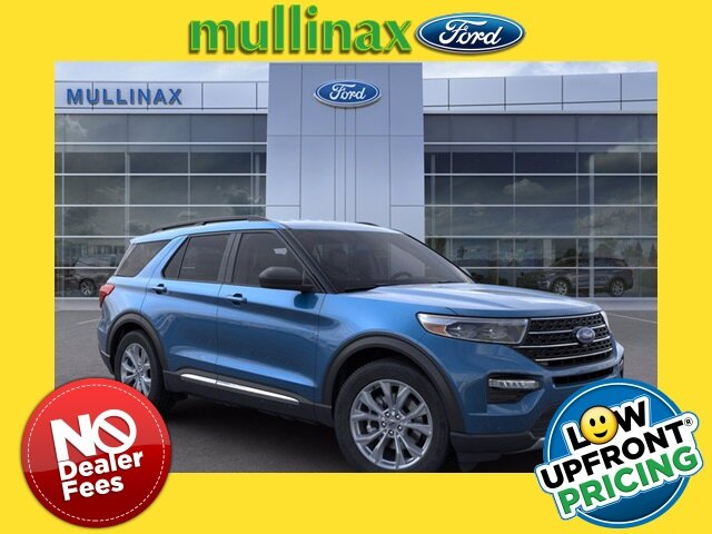 2021 Atlas Blue Metallic Ford Explorer XLT RWD EcoBoost 2.3L I4 GTDi DOHC Turbocharged VCT Engine Automatic