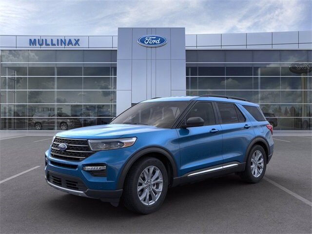 2021 Atlas Blue Metallic Ford Explorer XLT EcoBoost 2.3L I4 GTDi DOHC Turbocharged VCT Engine 4 Door Automatic SUV