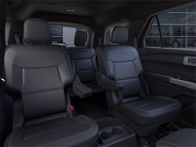 2021 Atlas Blue Metallic Ford Explorer XLT RWD Automatic SUV EcoBoost 2.3L I4 GTDi DOHC Turbocharged VCT Engine
