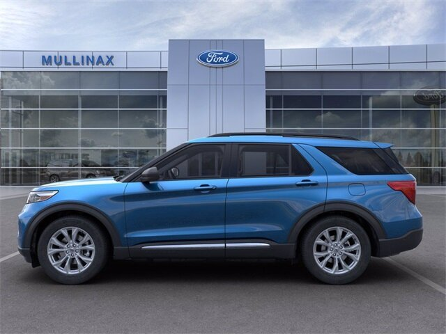 2021 Atlas Blue Metallic Ford Explorer XLT EcoBoost 2.3L I4 GTDi DOHC Turbocharged VCT Engine Automatic RWD