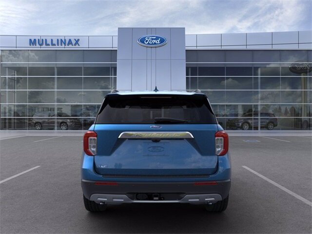 2021 Atlas Blue Metallic Ford Explorer XLT SUV EcoBoost 2.3L I4 GTDi DOHC Turbocharged VCT Engine Automatic 4 Door