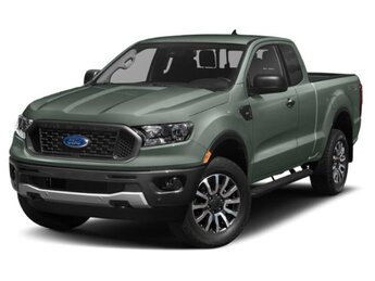 2021 Cactus Gray Ford Ranger XLT RWD Automatic EcoBoost 2.3L I4 GTDi DOHC Turbocharged VCT Engine