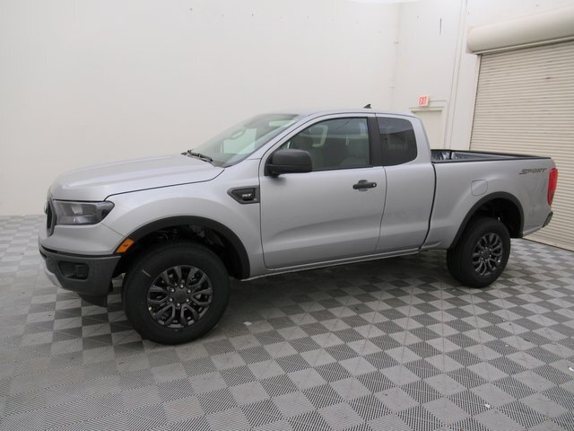 2021 Iconic Silver Metallic Ford Ranger XLT EcoBoost 2.3L I4 GTDi DOHC Turbocharged VCT Engine Truck Automatic RWD