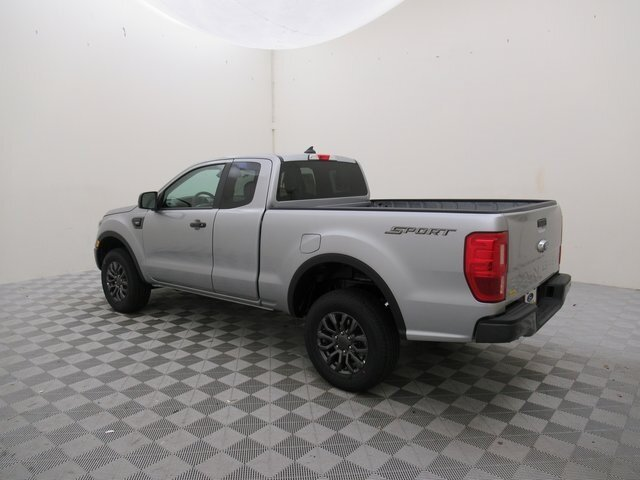 2021 Iconic Silver Metallic Ford Ranger XLT EcoBoost 2.3L I4 GTDi DOHC Turbocharged VCT Engine RWD 4 Door Truck