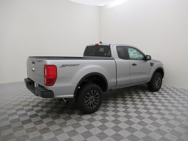 2021 Iconic Silver Metallic Ford Ranger XLT RWD EcoBoost 2.3L I4 GTDi DOHC Turbocharged VCT Engine Truck Automatic