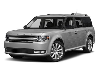 2018 Silver Ford Flex Limited EcoBoost 3.5L V6 GTDi DOHC 24V Twin Turbocharged Engine AWD 4 Door Automatic SUV