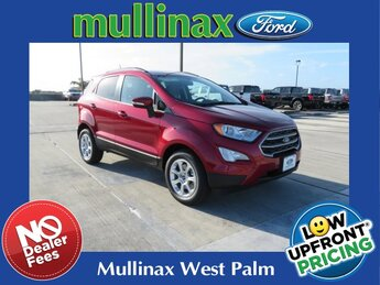 2021 Ruby Red Metallic Tinted Clearcoat Ford EcoSport SE FWD SUV EcoBoost 1.0L I3 GTDi DOHC Turbocharged VCT Engine Automatic 4 Door
