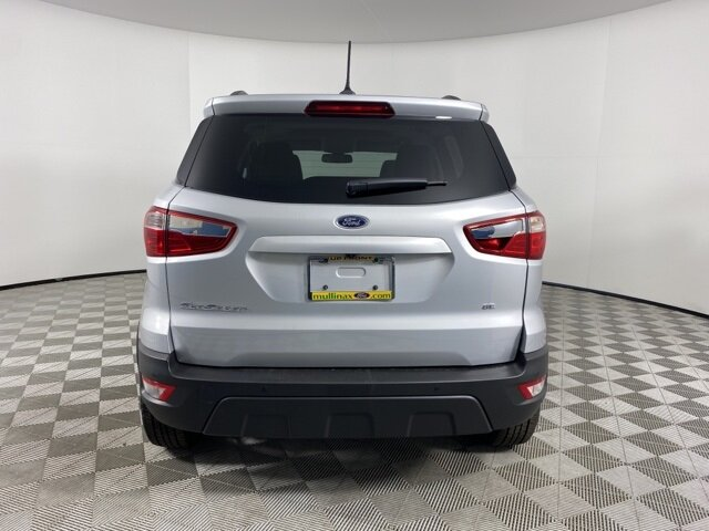 2021 Moondust Silver Metallic Ford EcoSport SE FWD 4 Door SUV EcoBoost 1.0L I3 GTDi DOHC Turbocharged VCT Engine