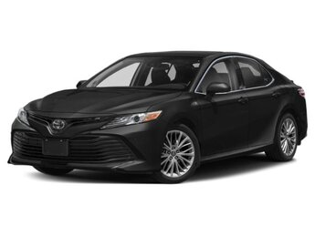 2020 Midnight Black Metallic Toyota Camry XLE Automatic AWD 4 Cylinder Engine 4 Door
