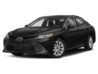 2020 Midnight Black Metallic Toyota Camry LE FWD 4 Cylinder Engine 4 Door Automatic Sedan