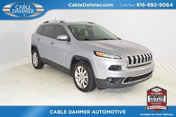 2014 Billet Silver Metallic Clearcoat Jeep Cherokee Limited 2.4L I4 MultiAir Engine Automatic 4 Door FWD SUV