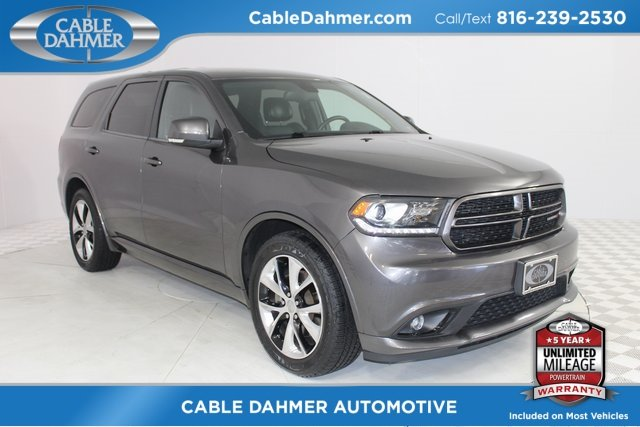 2014 Granite Crystal Metallic Clearcoat Dodge Durango R/T AWD 4 Door SUV HEMI 5.7L V8 Multi Displacement VVT Engine