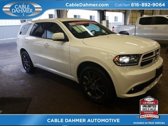 2017 white Dodge Durango R/T 4 Door HEMI 5.7L V8 Multi Displacement VVT Engine Automatic AWD SUV