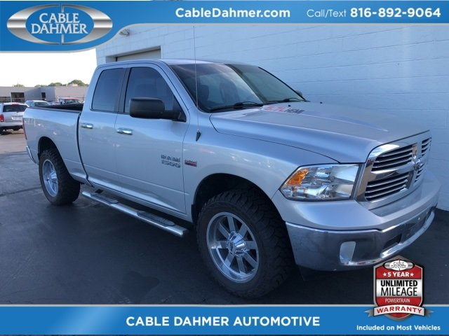 2014 Bright Silver Metallic Clearcoat Ram 1500 Big Horn 4 Door HEMI 5.7L V8 Multi Displacement VVT Engine Automatic