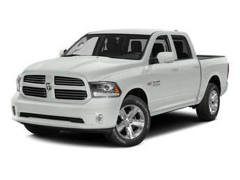 2015 Bright White Clearcoat Ram 1500 Big Horn 4 Door Truck HEMI 5.7L V8 Multi Displacement VVT Engine