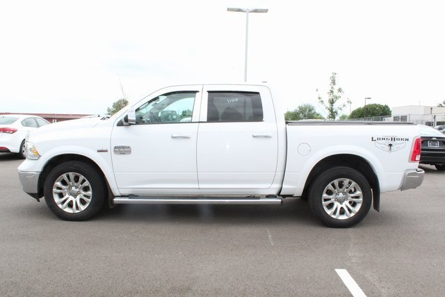 2013 Bright White Clearcoat Ram 1500 Laramie Longhorn Edition Automatic 4X4 HEMI 5.7L V8 Multi Displacement VVT Engine Truck 4 Door