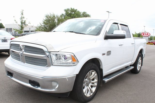 2013 Bright White Clearcoat Ram 1500 Laramie Longhorn Edition 4X4 HEMI 5.7L V8 Multi Displacement VVT Engine Truck
