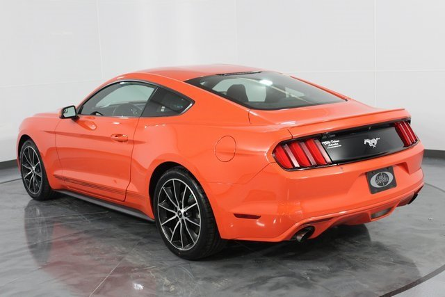 2016 Competition Orange Ford Mustang EcoBoost Automatic Coupe EcoBoost 2.3L I4 GTDi DOHC Turbocharged VCT Engine 2 Door
