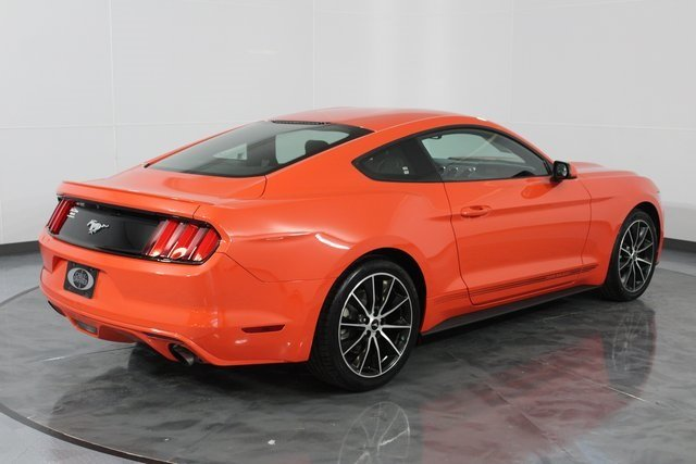 2016 Competition Orange Ford Mustang EcoBoost EcoBoost 2.3L I4 GTDi DOHC Turbocharged VCT Engine Automatic RWD Coupe 2 Door