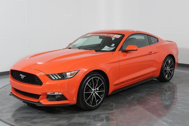 2016 Competition Orange Ford Mustang EcoBoost 2 Door Automatic EcoBoost 2.3L I4 GTDi DOHC Turbocharged VCT Engine Coupe