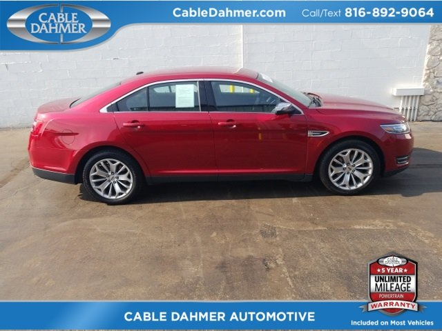 2017 Ruby Red Metallic Tinted Clearcoat Ford Taurus Limited FWD Automatic 4 Door