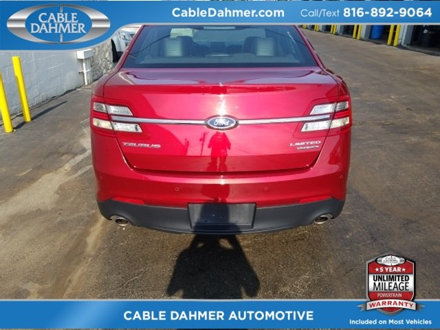 2017 Ruby Red Metallic Tinted Clearcoat Ford Taurus Limited Sedan Automatic 3.5L 6-Cylinder SMPI DOHC Engine FWD