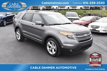 2013 Sterling Gray Metallic Ford Explorer Limited 3.5L 6-Cylinder SMPI DOHC Engine 4X4 SUV