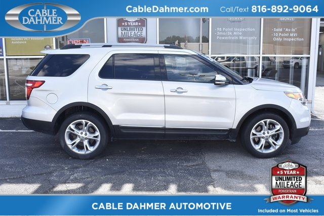 2015 Ingot Silver Metallic Ford Explorer Limited 3.5L 6-Cylinder SMPI DOHC Engine 4 Door 4X4 Automatic