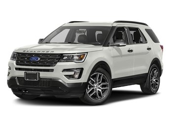 2016 White Platinum Metallic Tri-Coat Ford Explorer Sport 4X4 EcoBoost 3.5L V6 GTDi DOHC 24V Twin Turbocharged Engine Automatic 4 Door