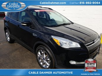 2013 black Ford Escape SEL EcoBoost 2.0L I4 GTDi DOHC Turbocharged VCT Engine 4 Door Automatic 4X4 SUV