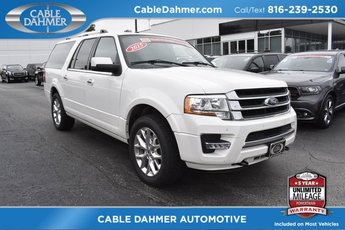2015 White Ford Expedition EL Limited Automatic 4 Door EcoBoost 3.5L V6 GTDi DOHC 24V Twin Turbocharged Engine
