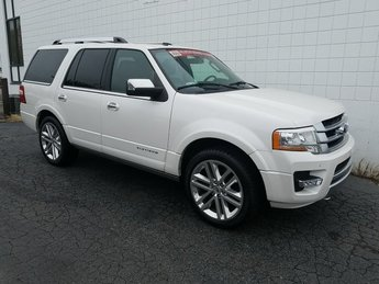 2015 White Platinum Metallic Tri-Coat Ford Expedition Platinum SUV Automatic EcoBoost 3.5L V6 GTDi DOHC 24V Twin Turbocharged Engine 4X4 4 Door